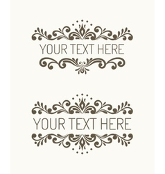 Two hand drawn decorative border vector