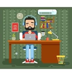 character programmer copywriter gamer vector image
