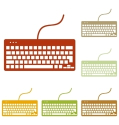 Keyboard simple sign vector