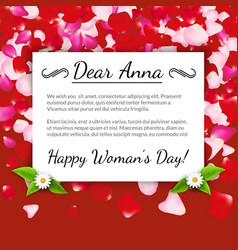 Happy Womens Day greeting card gift card on vector image