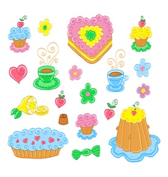 Cartoon food set vector