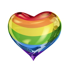 Big rainbow heart vector image vector image