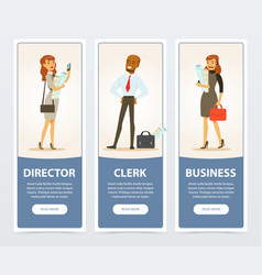 business group company staff business banners vector image