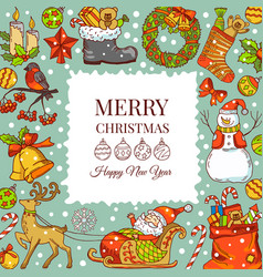 christmas background pictures vector image vector image