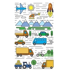 Color flat transportation vector