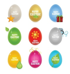 colored clean and creative nature easter eggs vector image vector image