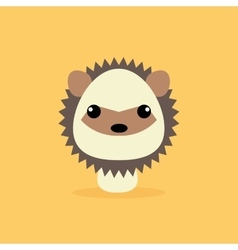 Cute cartoon wild porcupine vector