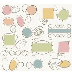doodle frames vector image