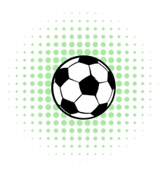 Football ball icon comics style vector