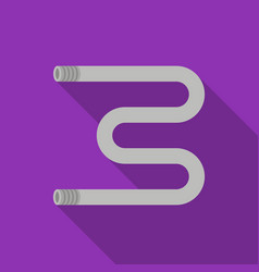 Heated towel rail icon in flat style isolated on vector