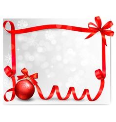 Holiday ribbon background vector image vector image