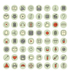 icons for user inteface and technology vector image vector image