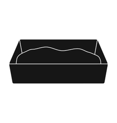 Litter box icon of for web and vector