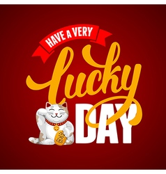 Lucky day vector