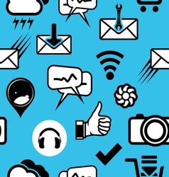 mobilni social media4 resize vector image vector image