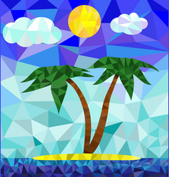 Polygon island image vector