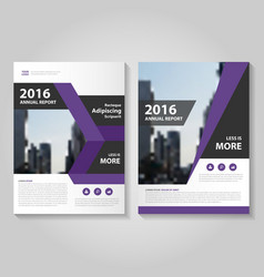 Purple black annual report leaflet brochure flyer vector