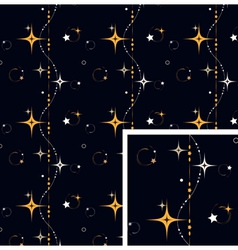 Seamless pattern star background vector