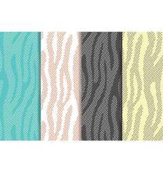 Seamless patterns set with zebratiger stripes vector image vector image