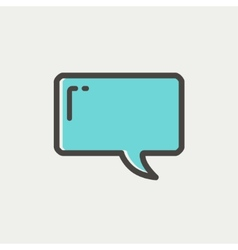 Speech bubble thin line icon vector image vector image