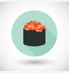 Sushi flat icon vector