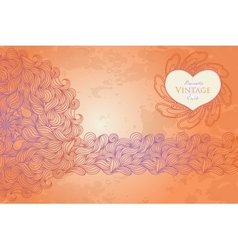 Template design for card vector image vector image