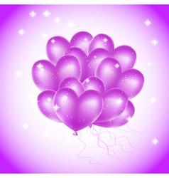 violet heat balloons vector image vector image