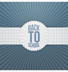 Back to school greeting tag on paper ribbon vector