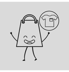Bag shopping concept tshirt commerce design vector