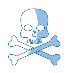 Skull bones danger poison laboratory shadow vector