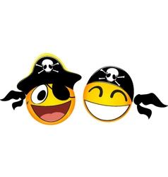 Emoticons pirate vector