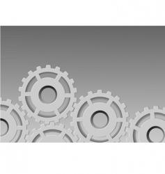metallic background gear vector image