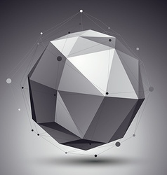 Spatial technological shape polygonal single color vector