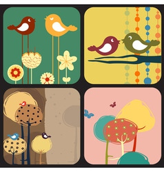 Of style design greeting cards vector