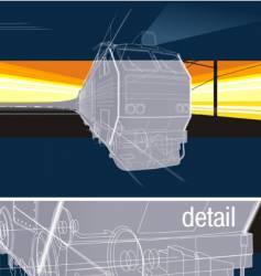 railway background vector image