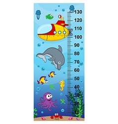 Underwater height measure vector