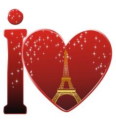 paris love vector image