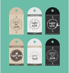 Advertising sticker badge coffee shop vector