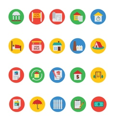 Real estate icons 6 vector