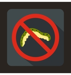 No caterpillar sign icon in flat style vector