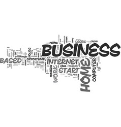 A home based business who why when and where to vector