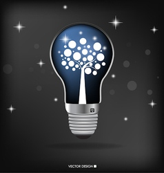 A light bulb with tree inside vector image