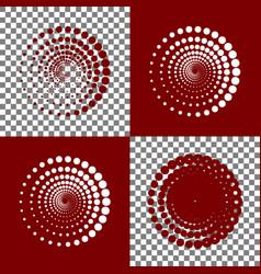 abstract technology circles sign bordo vector image vector image