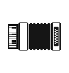 Accordion icon in simple style vector