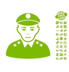 Army general icon with free bonus vector