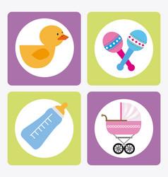baby shower design over white background vector image