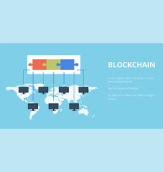 Block chain technology public vector