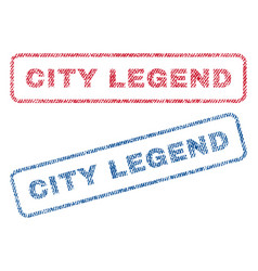 city legend textile stamps vector image vector image