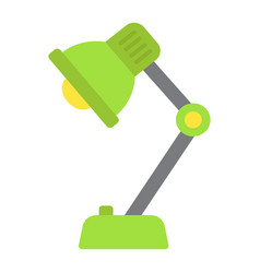 Desk lamp flat icon bulb and light vector