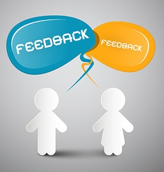 Feedback with paper people vector